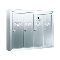 Standard 4 Door Vertical Mailbox Unit - Front Loading and Surface Mounted - 12504SMSHA