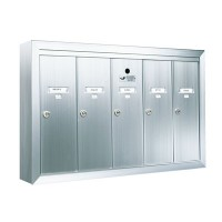 Standard 5 Door Vertical Mailbox Unit - Front Loading and Surface Mounted - 12505SMSHA