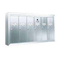 Standard 6 Door Vertical Mailbox Unit - Front Loading and Surface Mounted - 12506SMSHA