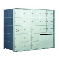 20 OUA-size Door Horizontal Mailbox Unit and 1 Outgoing Mail Collection - Front Loading - 140055OUA