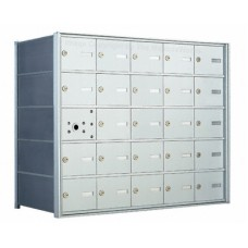 25 A-size Door Horizontal Mailbox Unit - Front Loading - 140055A