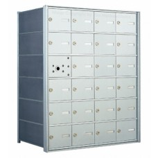 24 A-size Door Horizontal Mailbox Unit - Front Loading - 140064A