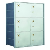 6 PLA-size Door Horizontal Mailbox Unit - Front Loading - 140064PLA