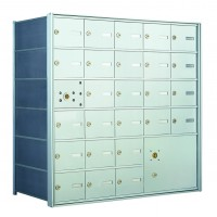 25 PLA-size Door and 1 Parcel Locker Horizontal Mailbox Unit - Front Loading - 140065PLA