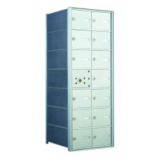 14 A-size Door Horizontal Mailbox Unit - Front Loading - 140072A