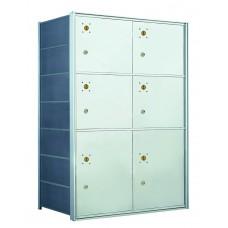 6 PLA-size Door Horizontal Mailbox Unit - Front Loading - 140074PLA