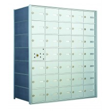 35 A-size Door Horizontal Mailbox Unit - Front Loading - 140075A