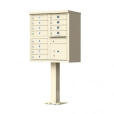 12 Tenant Door Standard Style CBU Mailbox (Pedestal Included) - Type 2 - 1570-12AF