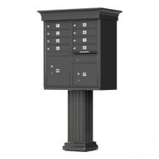 8 Tenant Door Classic Decorative CBU Mailbox (Pedestal Included) - Type 1 - 1570-8AF-DC