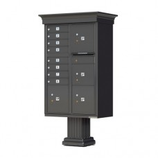 8 Tenant Door Classic Decorative CBU Mailbox (Pedestal Included) - Type 6 - 1570-8T6AF-DC