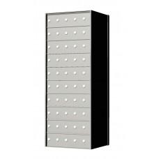 Custom 50 Door 10 High Horizontal Mailbox Unit - Rear Loading - 1700105SP
