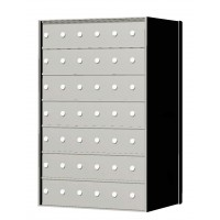Custom 42 Door 7 High Horizontal Mailbox Unit - Rear Loading - 170076SP