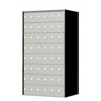 Custom 48 Door 8 High Horizontal Mailbox Unit - Rear Loading - 170086SP