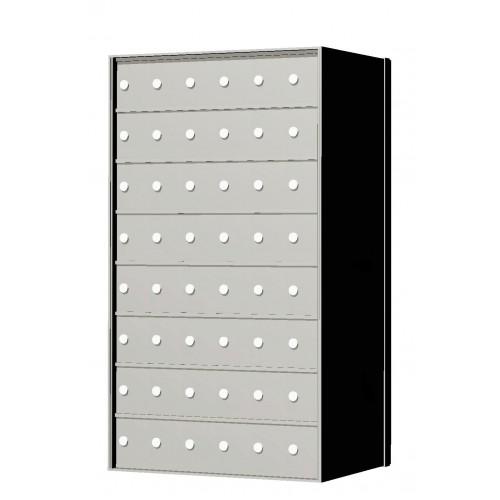 Custom 48 Door 8 High Horizontal Mailbox Unit Rear