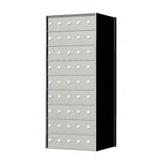 Standard 45 Door 9 High Horizontal Mailbox Unit - Rear Loading - 170095A