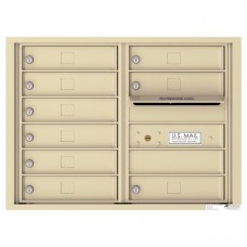 9 Tenant Doors with Outgoing Mail Compartment - 4C Wall Mount 6-High Mailboxes - 4C06D-09