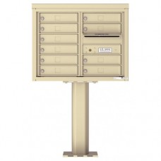 10 Tenant Doors with Outgoing Mail Compartment (Pedestal Included) - 4C Pedestal Mount 6-High Mailboxes - 4C06D-10-P