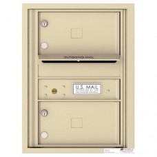 2 Oversized Tenant Doors with Outgoing Mail Compartment - 4C Wall Mount 6-High Mailboxes - H4C06S-02