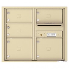 5 Oversized Tenant Doors with Outgoing Mail Compartment - 4C Wall Mount 7-High Mailboxes - 4C07D-05