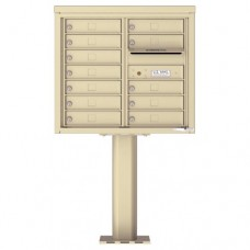 12 Tenant Doors with Outgoing Mail Compartment (Pedestal Included) - 4C Pedestal Mount 7-High Mailboxes - 4C07D-12-P