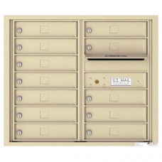 12 Tenant Doors with Outgoing Mail Compartment - 4C Wall Mount 7-High Mailboxes - 4C07D-12