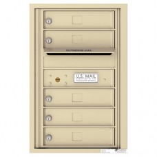 5 Tenant Doors with Outgoing Mail Compartment - 4C Wall Mount 7-High Mailboxes - 4C07S-05