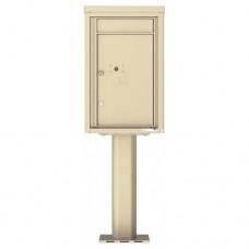 1 Parcel Door Unit - 4C Pedestal Mount 7-High (Pedestal Included) - 4C07S-1P-P