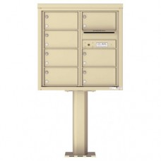 7 Over-sized Tenant Doors with Outgoing Mail Compartment (Pedestal Included) - 4C Pedestal Mount 8-High Mailboxes - 4C08D-07-P