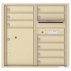 9 Tenant Doors with 1 Parcel Locker and Outgoing Mail Compartment - 4C Wall Mount 8-High Mailboxes - 4C08D-09