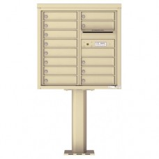 13 Tenant Doors with Outgoing Mail Compartment (Pedestal Included) - 4C Pedestal Mount 8-High Mailboxes - 4C08D-13-P