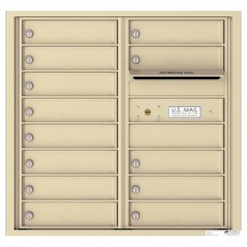 13 Tenant Doors with Outgoing Mail Compartment - 4C Wall Mount 8-High Mailboxes - 4C08D-13