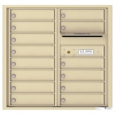 14 Tenant Doors with Outgoing Mail Compartment - 4C Wall Mount 8-High Mailboxes - 4C08D-14