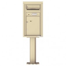 1 Tenant Door with 1 Parcel Door and Outgoing Mail Compartment (Pedestal Included) - 4C Pedestal Mount 8-High Mailboxes - 4C08S-01-P