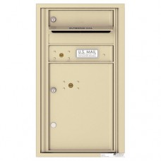 1 Tenant Doors with 1 Parcel Locker and Outgoing Mail Compartment - 4C Wall Mount 8-High Mailboxes - 4C08S-01