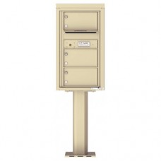 3 Over-sized Tenant Doors with Outgoing Mail Compartment (Pedestal Included) - 4C Pedestal Mount 8-High Mailboxes - 4C08S-03-P