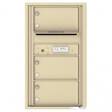 3 Oversized Tenant Doors with Outgoing Mail Compartment - 4C Wall Mount 8-High Mailboxes - 4C08S-03