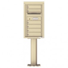 6 Tenant Doors with Outgoing Mail Compartment (Pedestal Included) - 4C Pedestal Mount 8-High Mailboxes - 4C08S-06-P