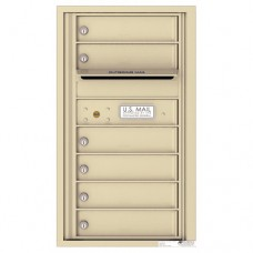 6 Tenant Doors with Outgoing Mail Compartment - 4C Wall Mount 8-High Mailboxes - 4C08S-06
