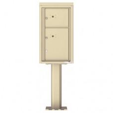2 Parcel Doors Unit - 4C Pedestal Mount 8-High (Pedestal Included) - 4C08S-2P-P