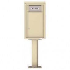 Trash / Recycling Bin (Pedestal Included) - 4C Pedestal Mount 8-High - 4C08S-BIN-P