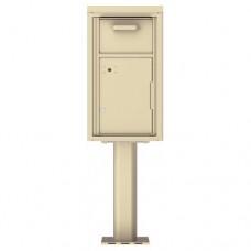 Collection/Drop Box Unit - 4C Pedestal Mount 8-High (Pedestal Included) - 4C08S-HOP-P