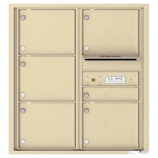 6 Tenant Doors with Outgoing Mail Compartment - 4C Wall Mount 9-High Mailboxes - 4C09D-06