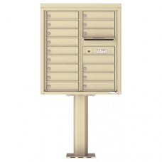 15 Tenant Doors with Outgoing Mail Compartment (Pedestal Included) - 4C Pedestal Mount 9-High Mailboxes - 4C09D-15-P