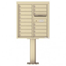 15 Tenant Doors with Outgoing Mail Compartment (Pedestal Included) - 4C Pedestal Mount 9-High Mailboxes - 4C09D-15-P16 Tenant Doors with Outgoing Mail Compartment (Pedestal Included) - 4C Pedestal Mount 9-High Mailboxes - 4C09D-16-P