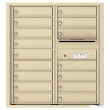 16 Tenant Doors with Outgoing Mail Compartment - 4C Wall Mount 9-High Mailboxes - 4C09D-16