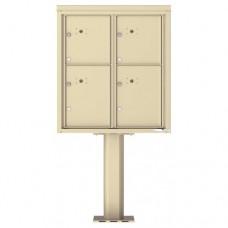 4 Parcel Door Unit - 4C Pedestal Mount 9-High (Pedestal Included) - 4C09D-4P-P