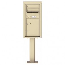 2 Tenant Doors with 1 Parcel Door and Outgoing Mail Compartment (Pedestal Included) - 4C Pedestal Mount 9-High Mailboxes - 4C09S-02-P
