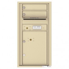 2 Tenant Doors with 1 Parcel Locker and Outgoing Mail Compartment - 4C Wall Mount 9-High Mailboxes - 4C09S-02