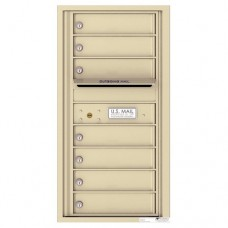7 Tenant Doors with Outgoing Mail Compartment - 4C Wall Mount 9-High Mailboxes - 4C09S-07