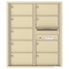 9 Tenant Doors with Outgoing Mail Compartment - 4C Wall Mount 10-High Mailboxes - 4C10D-09